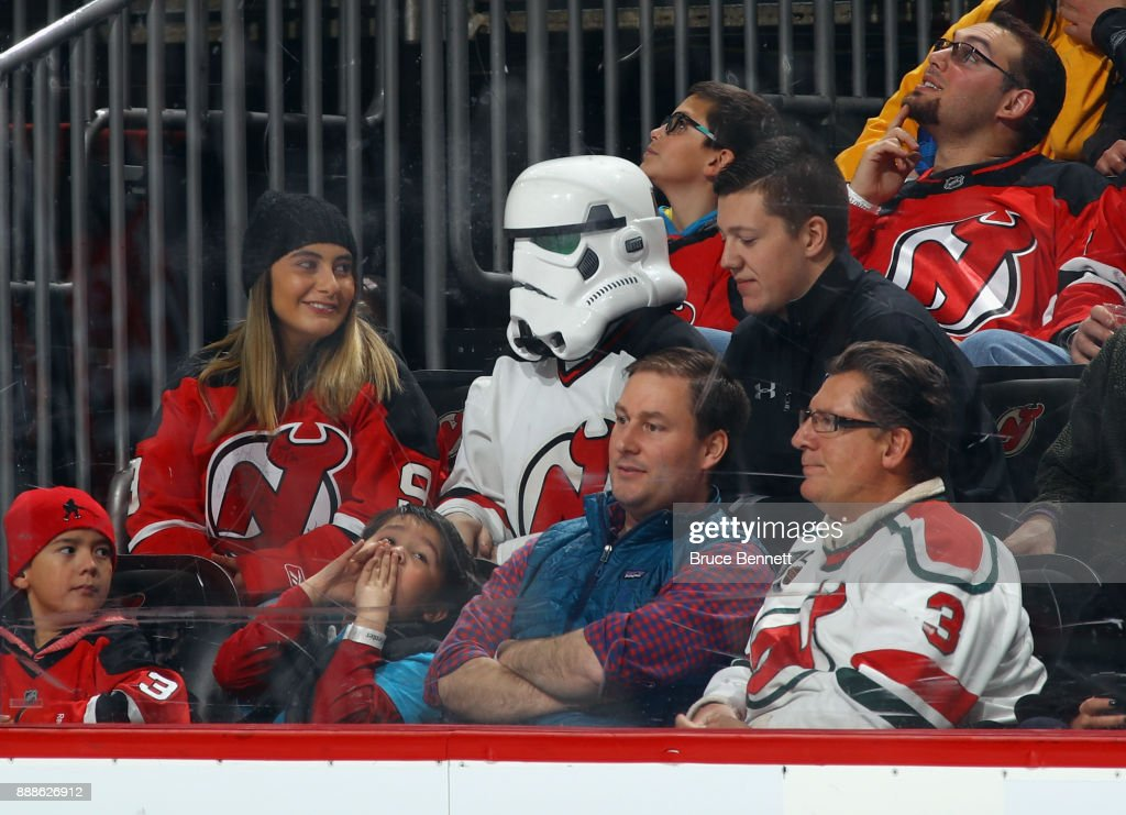 Fans celebrated 'Star Wars Night' at the game between the New Jersey Devils and tthe Columbus Blue Jackets at the Prudential Center on December 8, 2017 in Newark, New Jersey. The Blue Jackets defeated the Devils 5-3.