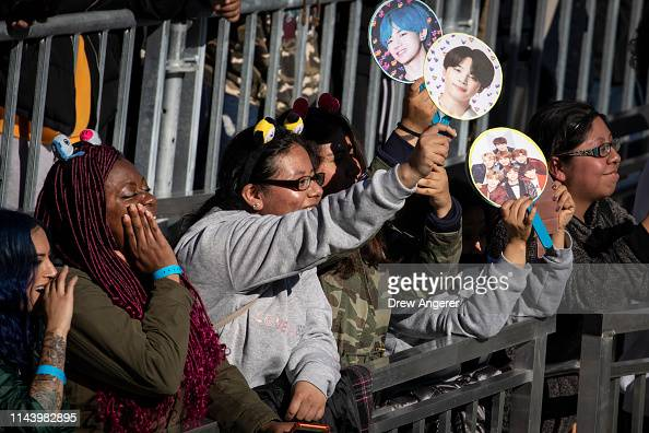 Fans cheer as K-Pop group BTS performs in Central Park, May
