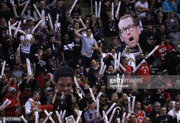 TORONTO ON MAY 30 Fans cheer as the Toronto Raptors beat the Golden State Warriors in game One of the NBA Finals in Toronto May 30 2019