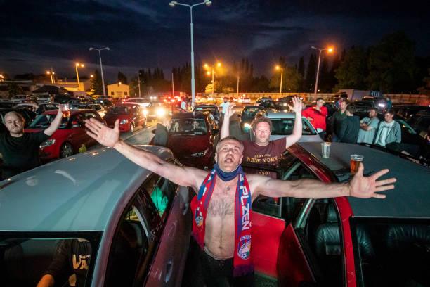 CZE: Drive-In Cinema Shows AC Sparta Prague Vs. FC Viktoria Plzen As Top-Flight Football Resumes