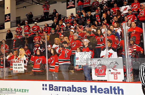 cb8fb69f6 Fans cheer at the conclusion of the 1995 Stanley Cup Championship Reunion  Charity Game at Amerihealth. New Jersey Devils ...