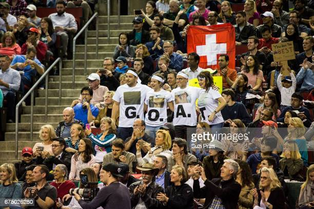 Fans cheer at the Match For Africa 4 exhibition match at KeyArena on April 29, 2017 in Seattle, Washington.