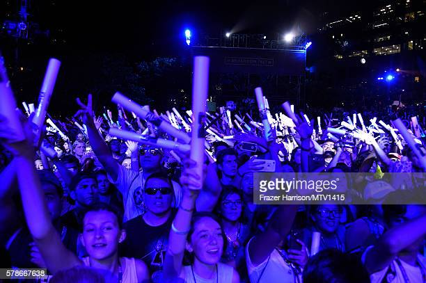 Fans cheer at the MTV Fandom Awards San Diego at PETCO Park on July 21 2016 in San Diego California