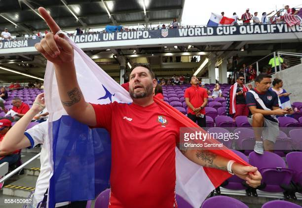 Fans cheer before the start of the US Soccer World Cup qualifier match against Panama at Orlando City Stadium on Friday Oct 6 in Orlando Fla