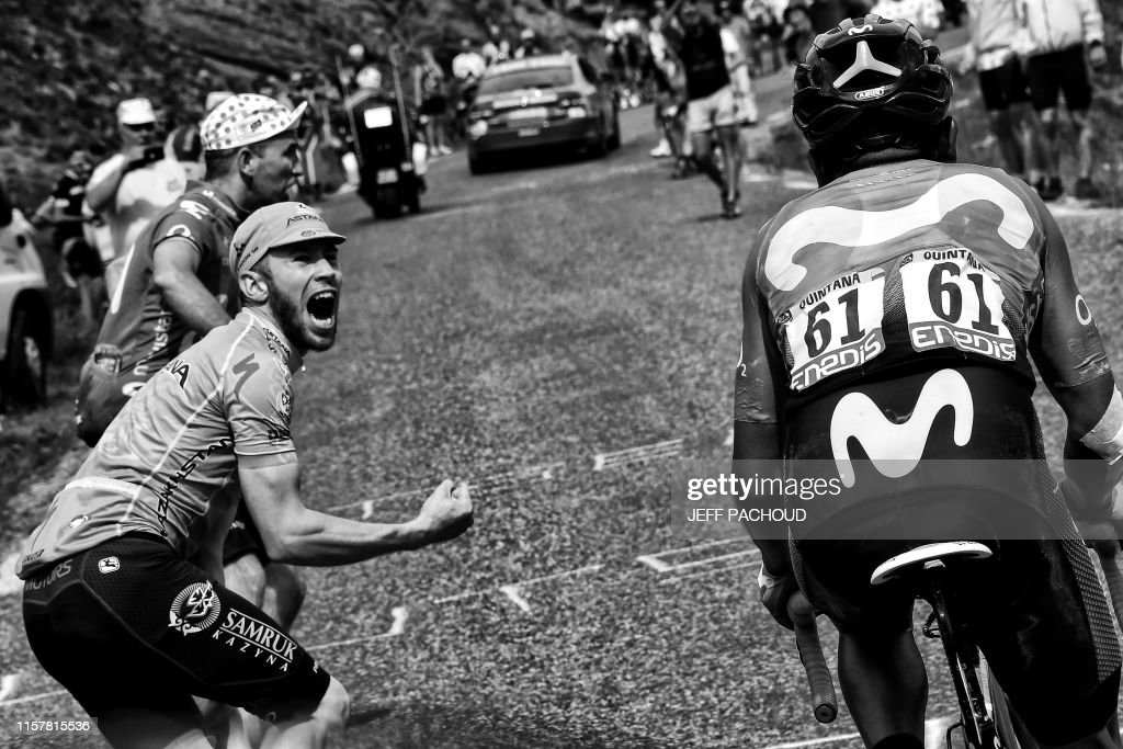 CYCLING-FRA-TDF2019-FANS-BLACK AND WHITE : News Photo