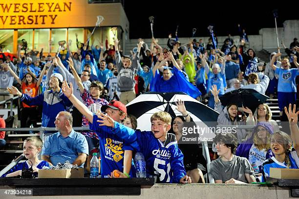 Fans cheer during a timeout at Selby Stadium on May 16 2015 in Delaware Ohio