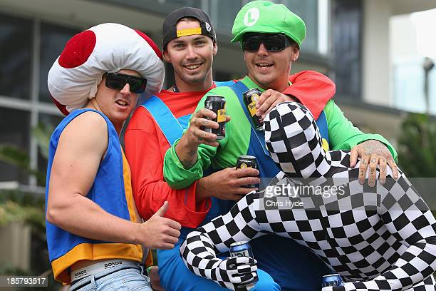 Fans cheer during practice for the Gold Coast 600 which is round 12 of the V8 Supercars Championship Series at the Surfers Paradise Street Circuit on...