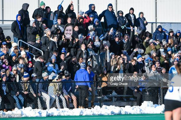 Fans cheer during the Division III Women's Field Hockey Championship held at Spooky Nook Sports on November 24 2019 in Manheim Pennsylvania...