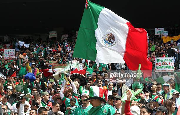 Fans cheer during the match between Mexico and Ecuador at Qwest Field on May 28 2011 in Seattle Washington