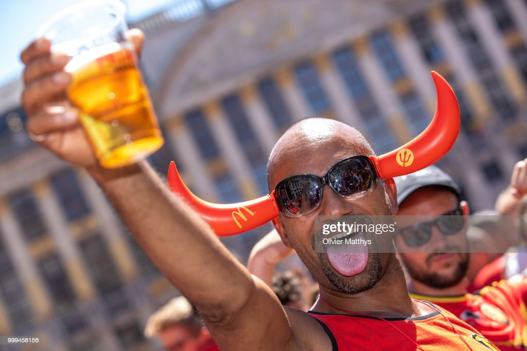 Red Devils Parade In Brussels After Returning From World Cup Russia
