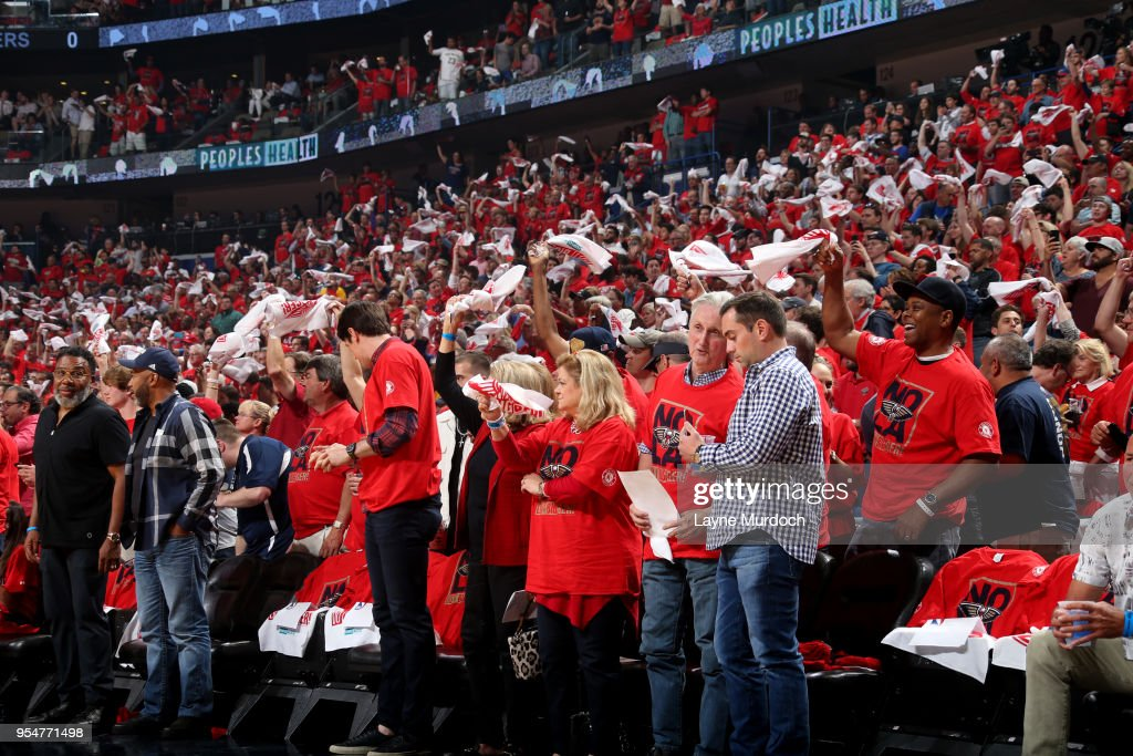 Fans Cheer On The New Orleans Pelicans Against Golden State