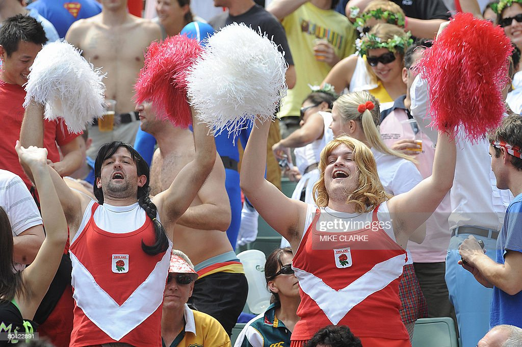 Fans Cheer Their Team At The Hong Kong Rugby Sevens Tournament On March 29 2008