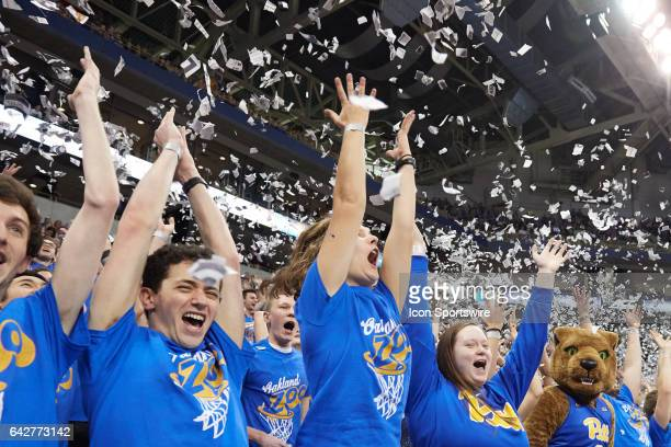Fans cheer when the Pittsburgh Panthers scored their first basket during a basketball game between Pittsburgh Panthers and Florida State Seminoles on...