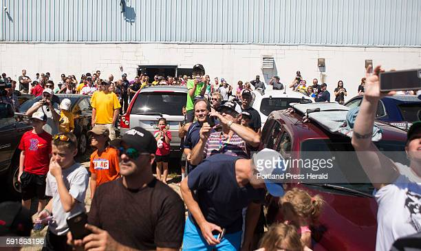 Fans clamored to see Brian Dumoulin and the 2016 Stanley Cup before he entered the Biddeford Arena Dumoulin brought the Stanley Cup back to his...