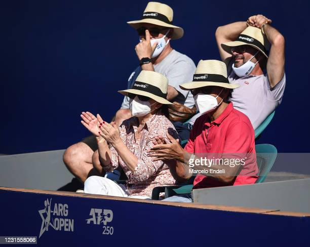 Fans clap during a match between Miomir Kecmanovic of Serbia and Diego Schwartzman of Argentina with a part of second semifinal. Due to the COIVD-19...