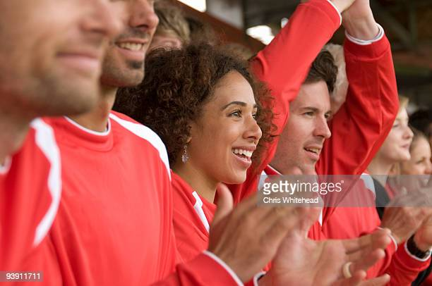 fans clapping at football match - sports event stock pictures, royalty-free photos & images