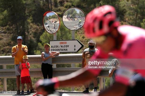 Fans contemplate the 76th Tour of Spain 2021, Stage 7 a 152km stage from Gandía to Balcón de Alicante / @lavuelta / #LaVuelta21 / on August 20, 2021...