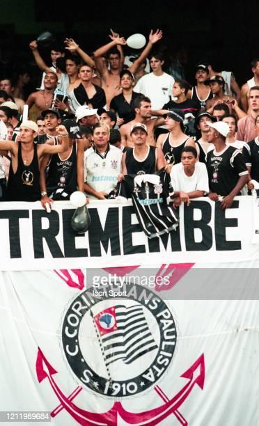 Fans Corinthians during the FIFA Club World Championship Final match between Corinthians and Vasco da Gama at Maracana Stadium Rio de Janeiro Brazil...