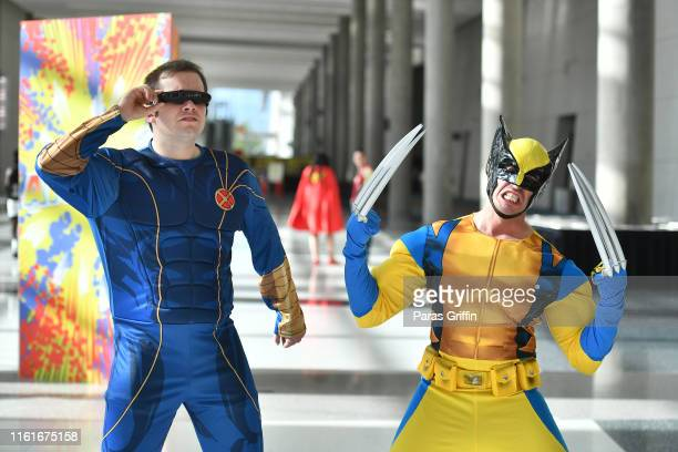 Fans cosplay as X-men's Cyclops and Wolverine during 2019 Atlanta Comic Con at Georgia World Congress Center on July 12, 2019 in Atlanta, Georgia.