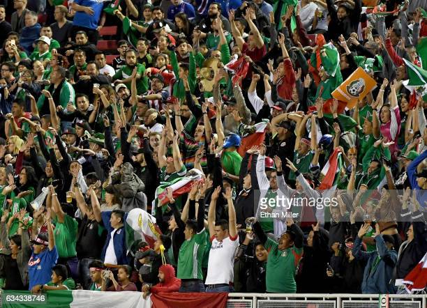 Fans do the wave during an exhibition match between Iceland and Mexico at Sam Boyd Stadium on February 8 2017 in Las Vegas Nevada Mexico won 10