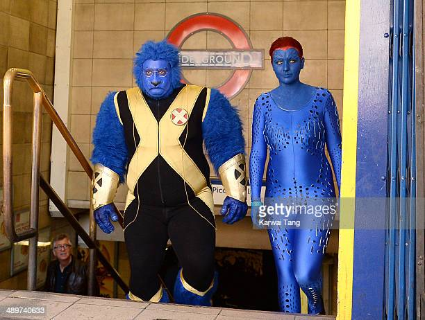Fans dress up in their favourite XMen characters ahead of a Guinness Book of Record attempt to have the largest gathering of XMen characters at...