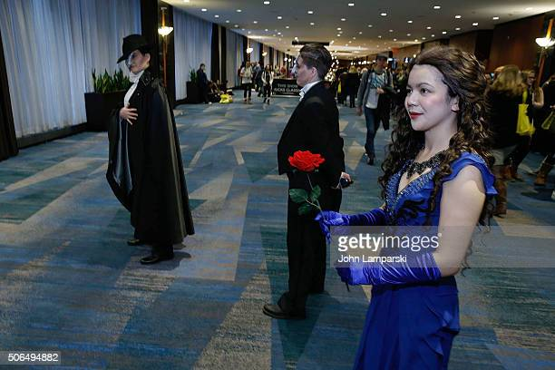 Fans dressed in costume attend BroadwayCon 2016 at the Hilton Midtown on January 23 2016 in New York City