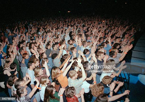 LONDON ENGLAND Fans during a concert at Wembley Arena circa 1990