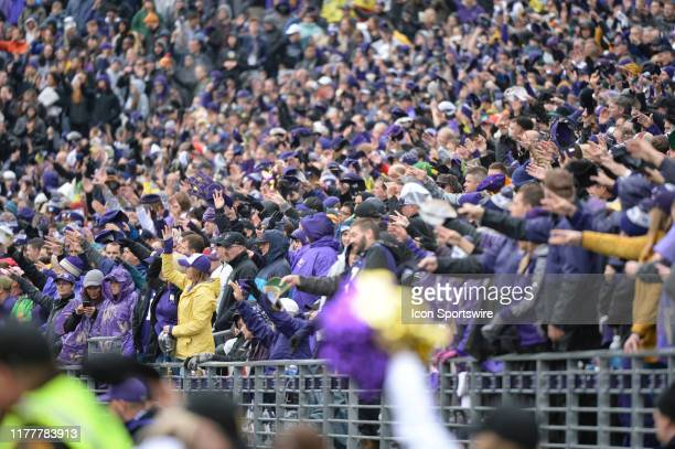 Fans during a PAC12 Conference game between the Washington Huskies and the Oregon Ducks on October 19 at Husky Stadium in Seattle, WA.