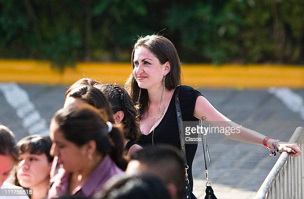 Fans during an autograph session at Plaza Cuicuilco in this picture Celia Lora daughter of rock singer Alex Lora one of the biggest fans of Ricky...