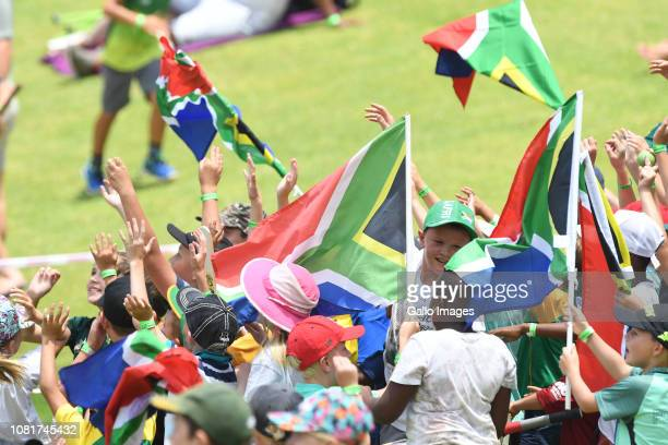 fans during day 3 of the 3rd Castle Lager Test match between South Africa and Pakistan at Bidvest Wanderers Stadium on January 13 2018 in...