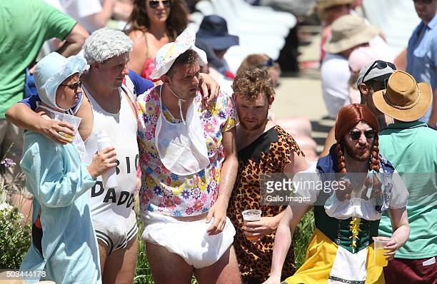 Fans during day 4 of the 2nd Test match between South Africa and England at PPC Newlands on January 05 2016 in Cape Town South Africa