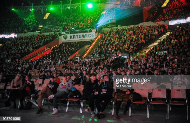 Fans during Dota 2 Major match between Virtuspro and Evil Geniuses on February 24 2018 in Katowice Poland