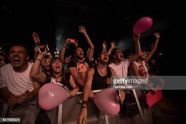 Fans during Ivete Sangalos concert at day 01 of Rock in Rio 2017 on September 15 2017 in Rio de Janeiro Brazil