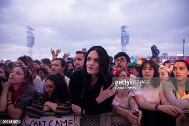 Fans during Nine Inch Nails performance on the NOS Stage on day 1 of NOS Alive festival on July 12 2018 in Lisbon Portugal