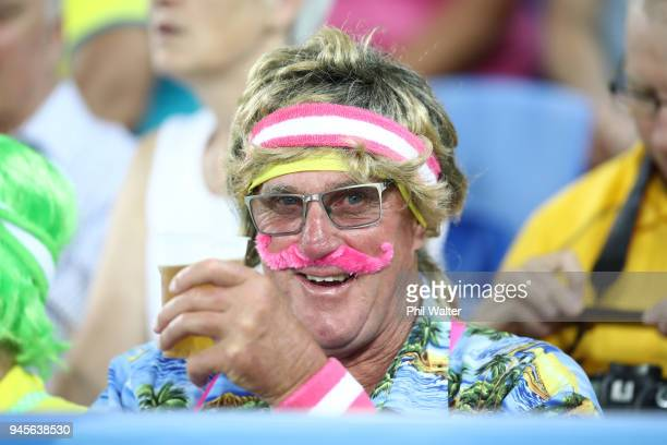 Fans during Rugby Sevens on day nine of the Gold Coast 2018 Commonwealth Games at Robina Stadium on April 13 2018 on the Gold Coast Australia