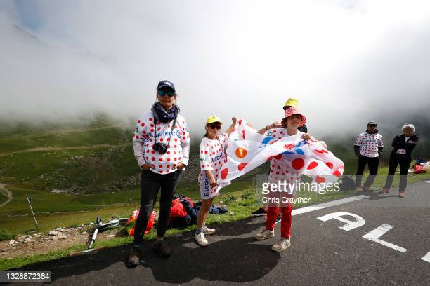 Fans during the 108th Tour de France 2021, Stage 18 a 129,7km stage from Pau to Luz Ardiden 1715m / @LeTour / #TDF2021 / on July 15, 2021 in Luz...
