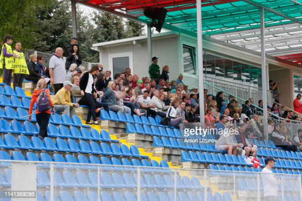 Fans during the 2019 UEFA Women's Under17 EURO group B match between England and Germany at Stadion Albena1 on May 5 2019 in Albena near Varna...