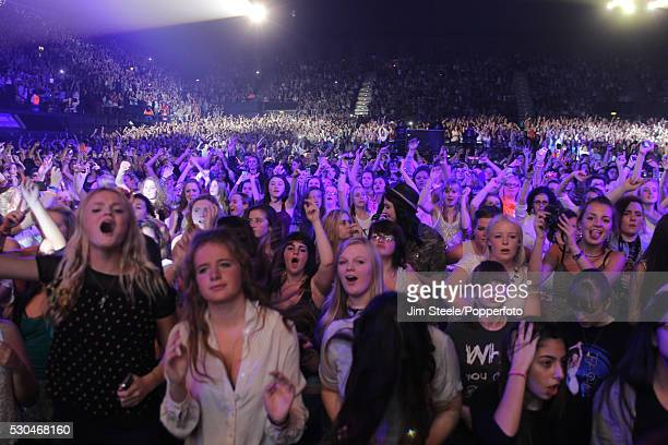 Fans during the BBC radio One Teen Awards at Wembley Arena in London on the 7th October, 2012.