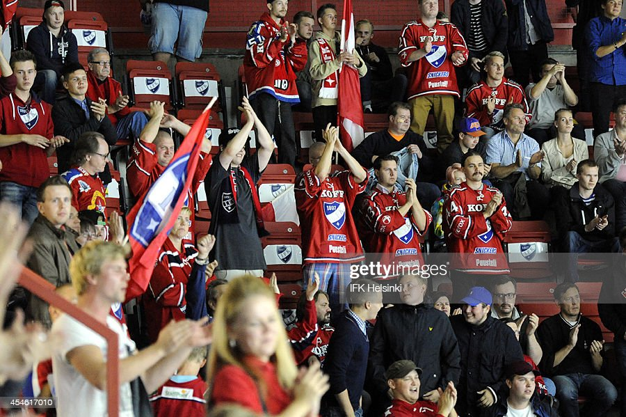 IFK Helsinki v Krefeld Pinguine - Champions Hockey League : News Photo