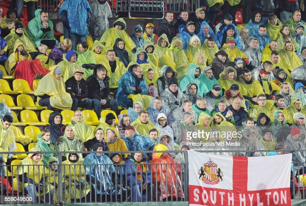 Fans during the FIFA 2018 World Cup Qualifier between Lithuania and England on October 8 2017 in Vilnius Lithuania