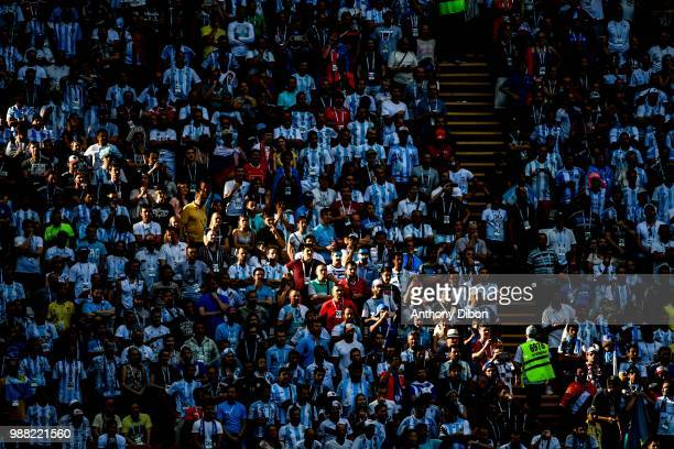 Fans during the FIFA World Cup Round of 16 match between France and Argentina at Kazan Arena on June 30 2018 in Kazan Russia