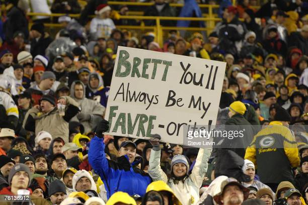 Fans during the game between the Green Bay Packers and the Minnesota Vikings at Lambeau Field on December 21 2006 The Packers won the game 97