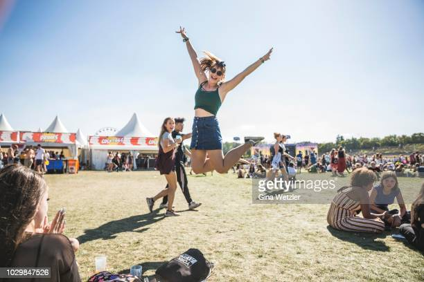 Fans during the Lollapalooza festival at the Olympiagelände on September 9, 2018 in Berlin, Germany.
