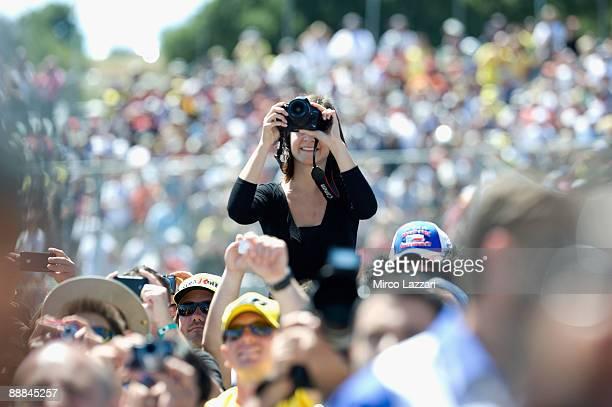 Fans during the Moto GP U S Grand Prix at the Mazda Raceway Laguna Seca on July 5 2009 in Monterey California