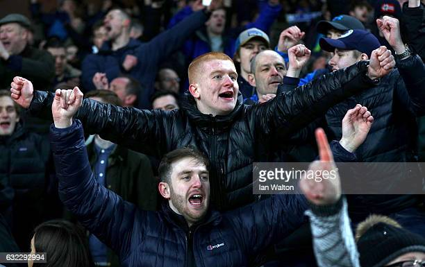 Fans during the Premier League match between Crystal Palace and Everton at Selhurst Park on January 21 2017 in London England
