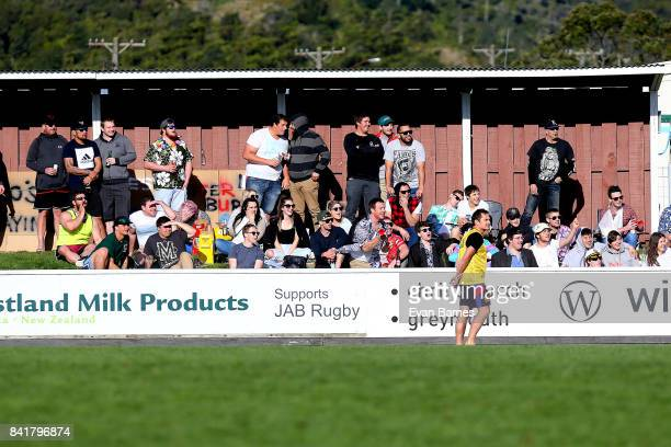 Fans during the round 2 Heartland Championship match between Buller and West Coast at Rugby Park on September 2 2017 in Greymouth New Zealand
