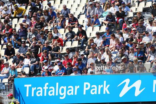 Fans during the round 7 Mitre 10 Cup match between Tasman and Southland at Trafalgar Park on October 25 2020 in Nelson New Zealand