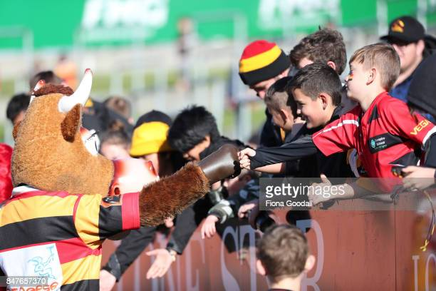 Fans during the round five Mitre 10 Cup match between Waikato and Manawatu at FMG Stadium on September 16 2017 in Hamilton New Zealand
