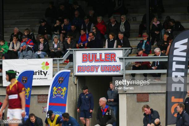 Fans during the round two Heartland Championship match between Buller and King Country on September 1 2018 in Westport New Zealand