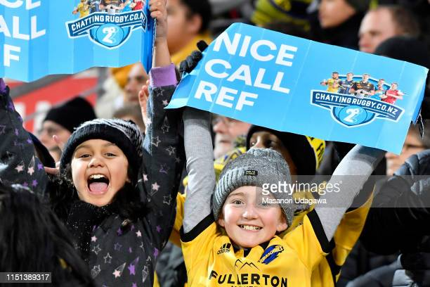 Fans during the Super Rugby Quarter Final match between the Hurricanes and the Bulls at Westpac Stadium on June 22 2019 in Wellington New Zealand